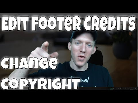 Edit Footer Credits In WordPress Site 2020 | Change Footer Copyright